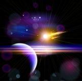 行星&彗星 库存例证