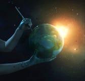 绘行星 免版税库存照片