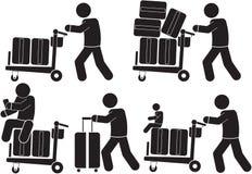 行李台车 库存例证