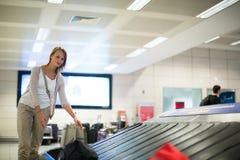 行李开垦在机场 免版税库存图片