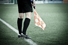 行程裁判足球 免版税库存图片