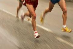 行程赛跑者 库存图片