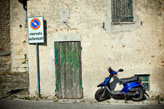 滑行车在意大利城市 库存照片