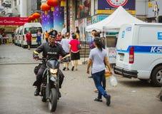 滑行车的警察,泰国 免版税库存图片
