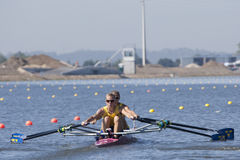 行:欧洲划船冠军 免版税库存照片