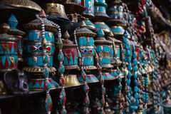 行traditianal祈祷把尼泊尔引入 免版税库存图片