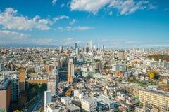 街市东京地平线 库存照片
