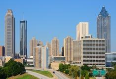 街市亚特兰大的都市风景 免版税库存照片