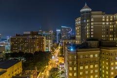 街市亚特兰大, GA屋顶视图 库存图片