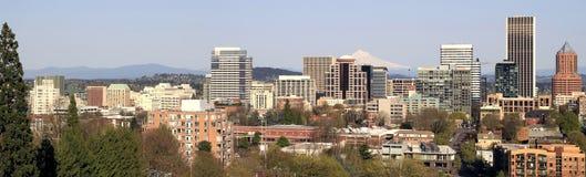 街市俄勒冈全景波特兰地平线 免版税图库摄影