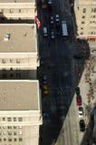 街市卡尔加里从上面 库存照片