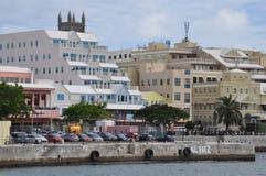 街市哈密尔顿在百慕大 免版税库存照片