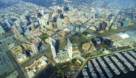 街市圣地亚哥鸟瞰图  免版税图库摄影