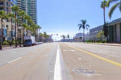 街市圣迭戈,加利福尼亚 库存照片