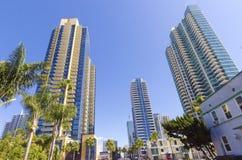 街市圣迭戈,加利福尼亚 免版税库存照片