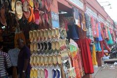 街市在斋浦尔,拉贾斯坦 库存图片