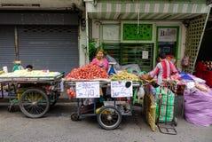 街市在曼谷,泰国 库存照片