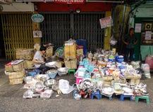 街市在曼谷,泰国 库存图片