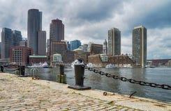 街市在波士顿,美利坚合众国 库存照片