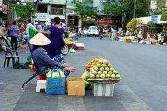 街市在胡志明市在越南 免版税图库摄影