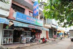 街市在越南 免版税库存照片