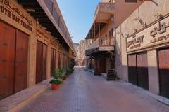 街市在迪拜Deira 免版税库存图片
