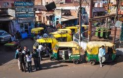 街市在阿格拉,印度 免版税库存照片