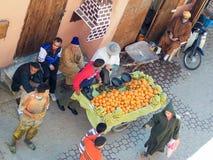 街市在马拉喀什 免版税库存图片