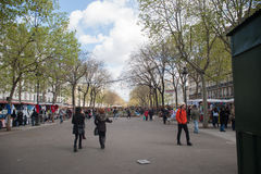 街市在巴黎 免版税库存照片