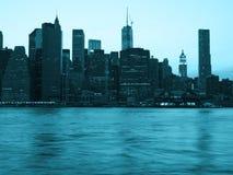 街市地平线,夜scape 免版税库存图片