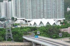 街市城市和交通桥梁 免版税图库摄影