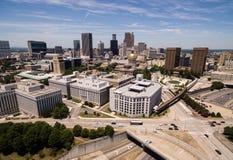 街市城市地平线亚特兰大乔治亚地铁地区首府 免版税库存图片
