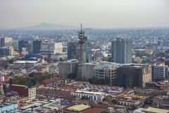街市墨西哥城,墨西哥看法  库存照片