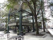 街市夏洛特,北卡罗来纳庭院广场 免版税图库摄影