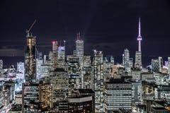 街市多伦多在晚上 库存图片