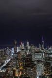 街市多伦多在晚上 免版税库存照片