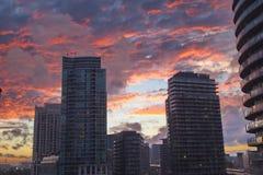 街市多伦多的看法  免版税库存照片