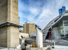 街市多伦多水族馆和旅馆 库存照片