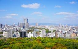 街市大阪的看法  免版税库存图片