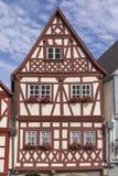 街市奥森富尔特在有半木料半灰泥的房子的巴伐利亚 库存照片