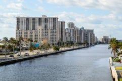 街市好莱坞海滩驱动 免版税图库摄影