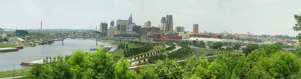 街市密西西比保罗河st 库存照片