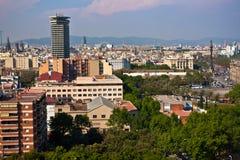 街市巴塞罗那哥伦布纪念品 免版税库存照片