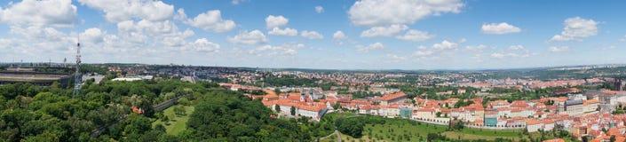 街市布拉格的全景  库存图片
