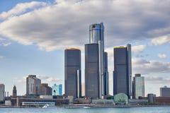 街市底特律地平线  免版税库存照片