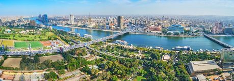街市开罗的地平线,埃及 库存照片