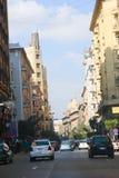街市开罗的建筑学  库存照片