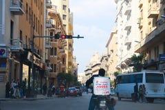 街市开罗的建筑学  免版税库存照片