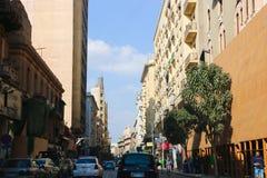 街市开罗的建筑学  免版税库存图片