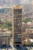街市开罗突出的大厦  库存照片